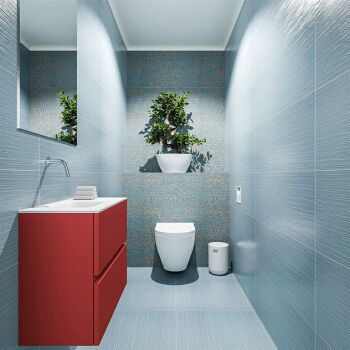 waschtisch set gäste wc ADA 60 cm rot FK75341891