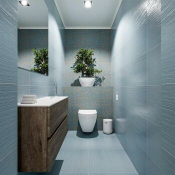 waschtisch set gäste wc ADA 100 cm dunkelbraun...