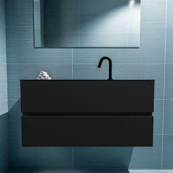 waschtisch set gäste wc ADA 100 cm schwarz FK75342103
