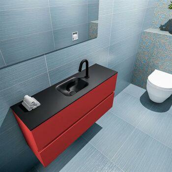 waschtisch set gäste wc ADA 100 cm rot FK75342248