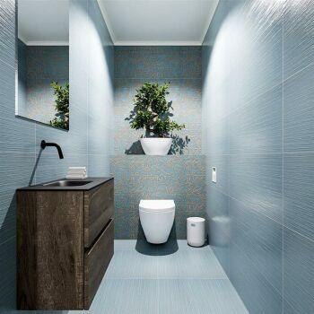 waschtisch set gäste wc ADA 60 cm dunkelbraun...