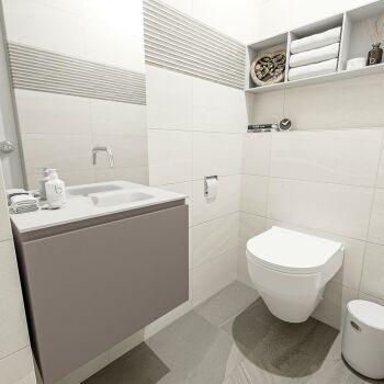 waschtisch set gäste wc OLAN 60 cm taupe FK75342502