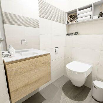 waschtisch set gäste wc OLAN 60 cm eiche FK75342672