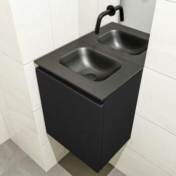 waschtisch set gäste wc OLAN 40 cm schwarz FK75342782