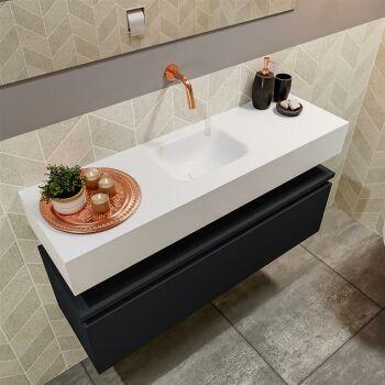 waschtisch set gäste wc ANDOR 100 cm schwarz FK75343148