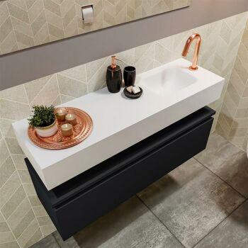 waschtisch set gäste wc ANDOR 100 cm schwarz FK75343151