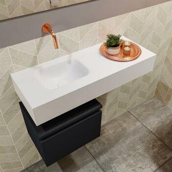 waschtisch set gäste wc ANDOR 80 cm schwarz FK75343810