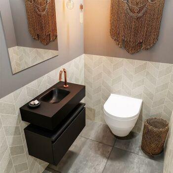 waschtisch set gäste wc ANDOR 60 cm schwarz FK75343483