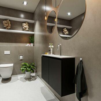 waschtisch set gäste wc TURE 80 cm schwarz FK75341043