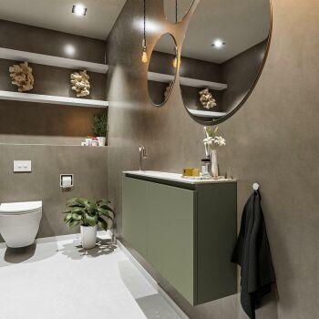 waschtisch set gäste wc TURE 100 cm army grün...