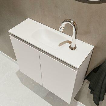 waschtisch set gäste wc TURE 60 cm leinen FK75341217
