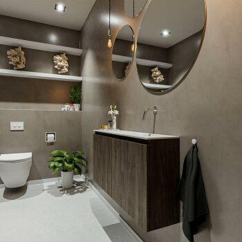 waschtisch set gäste wc TURE 100 cm dunkelbraun...