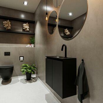 waschtisch set gäste wc TURE 60 cm schwarz FK75341395