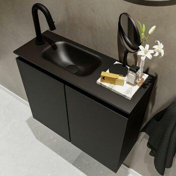 waschtisch set gäste wc TURE 60 cm schwarz FK75341397