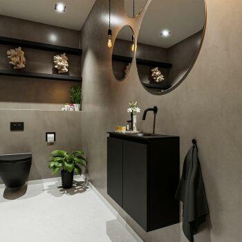 waschtisch set gäste wc TURE 60 cm schwarz FK75341400