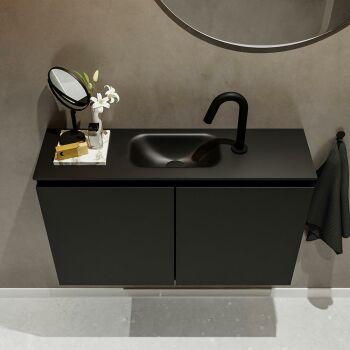 waschtisch set gäste wc TURE 80 cm schwarz FK75341401