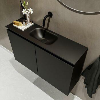 waschtisch set gäste wc TURE 80 cm schwarz FK75341402