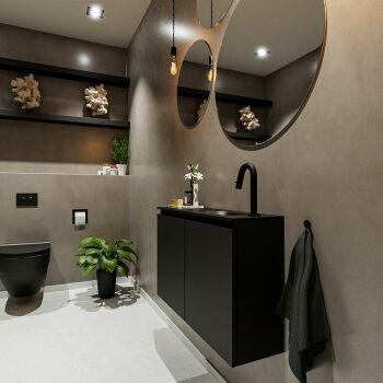 waschtisch set gäste wc TURE 80 cm schwarz FK75341405