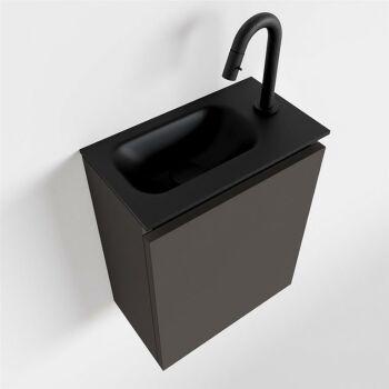 waschtisch set gäste wc TURE 40 cm dunkelgrau...