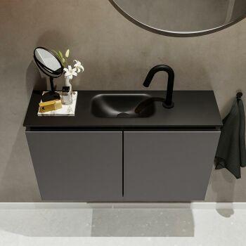 waschtisch set gäste wc TURE 80 cm dunkelgrau...