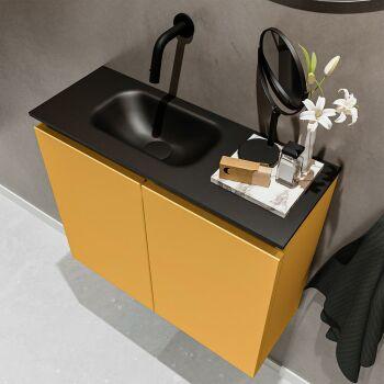 waschtisch set gäste wc TURE 60 cm gelb FK75341514