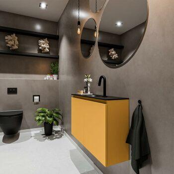 waschtisch set gäste wc TURE 80 cm gelb FK75341517