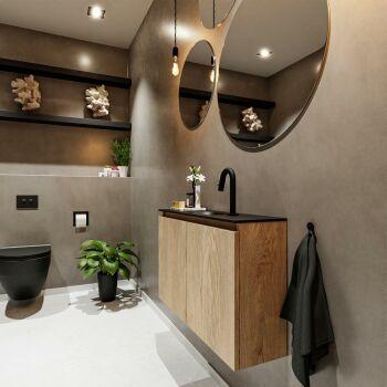 waschtisch set gäste wc TURE 80 cm eiche FK75341633
