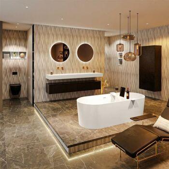 badewanne mineralwerkstoff serie nobel 180 cm leinen matt...