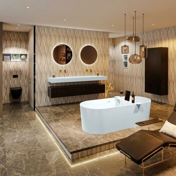 badewanne mineralwerkstoff serie nobel 180 cm babyblau...
