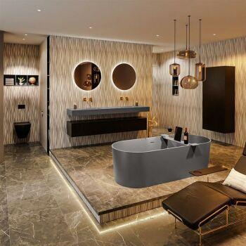 badewanne mineralwerkstoff serie nobel 180 cm dunkelgrau...