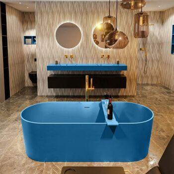 badewanne mineralwerkstoff serie nobel 180 cm blau matt...