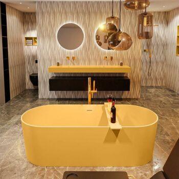 badewanne mineralwerkstoff serie nobel 180 cm gelb matt...