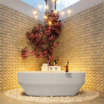 badewanne mineralwerkstoff serie stone 170 cm weiß...