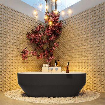badewanne mineralwerkstoff serie stone 170 cm außen...