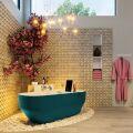 badewanne mineralwerkstoff serie stone 170 cm außen ozeanblau innen weiß matt 205 liter