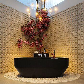 badewanne mineralwerkstoff serie stone 170 cm schwarz...