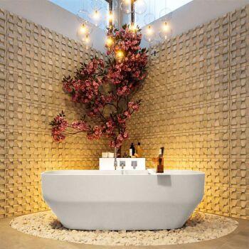 badewanne mineralwerkstoff serie stone 170 cm leinen matt...