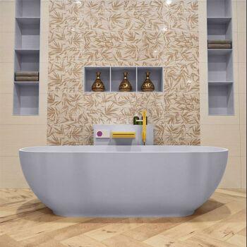 badewanne mineralwerkstoff serie rock 170 cm lavendel...