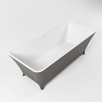 badewanne mineralwerkstoff serie lundy 170 cm außen dunkelgrau innen weiß matt 2010 liter