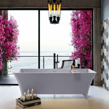 badewanne mineralwerkstoff serie lundy 170 cm lavendel...