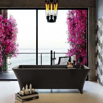 badewanne mineralwerkstoff serie lundy 170 cm dunkelgrau...