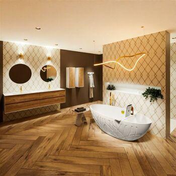 badewanne mineralwerkstoff serie holm 180 cm außen...