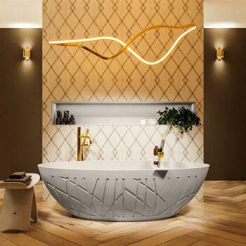 badewanne mineralwerkstoff serie holm 180 cm leinen matt...