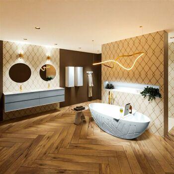 badewanne mineralwerkstoff serie holm 180 cm babyblau...