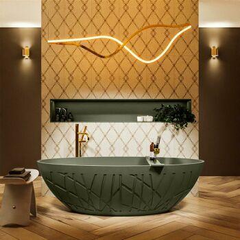 badewanne mineralwerkstoff serie holm 180 cm army...