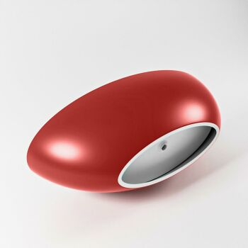 badewanne mineralwerkstoff serie float 170 cm außen rot innen weiß matt 190 liter