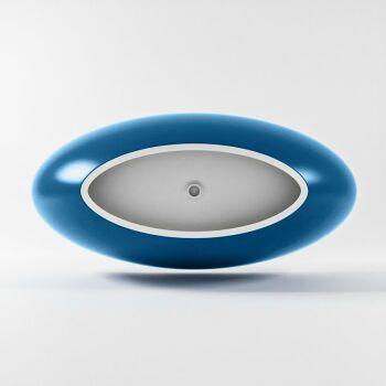 badewanne mineralwerkstoff serie float 170 cm außen blau innen weiß matt 190 liter