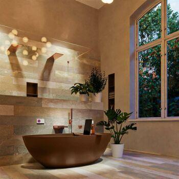 badewanne mineralwerkstoff serie float 170 cm rost matt...