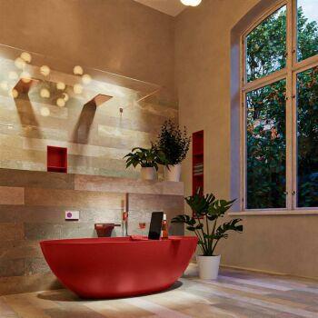 badewanne mineralwerkstoff serie float 170 cm rot matt...