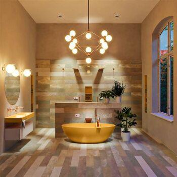 badewanne mineralwerkstoff serie float 170 cm gelb matt...